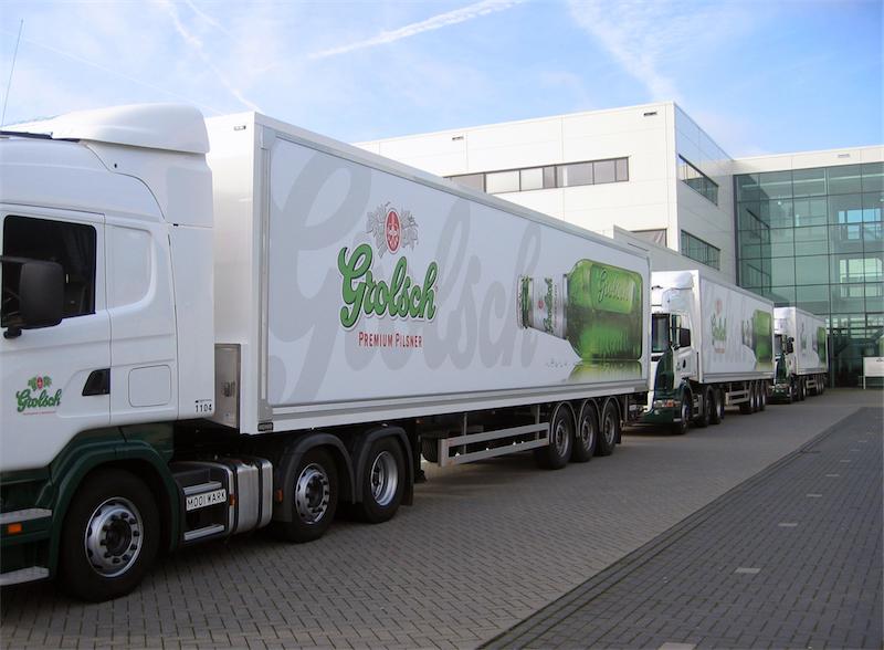 Grolsch Traxx lastbilsreklam för Fordonsprofil och IVAB