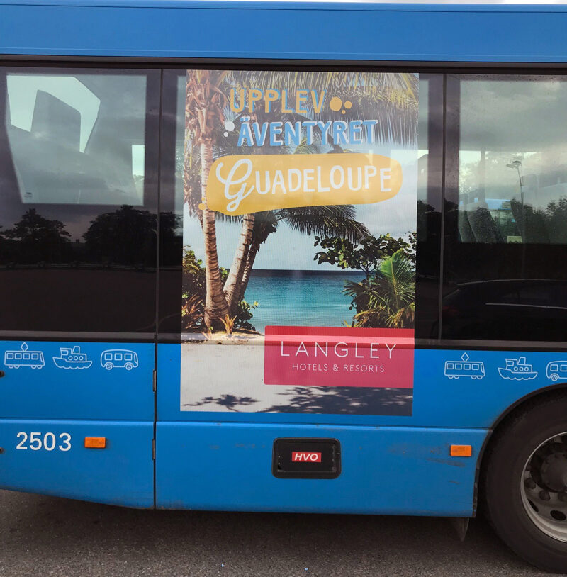 foliering kollektivtrafiken fordonsprofil buss