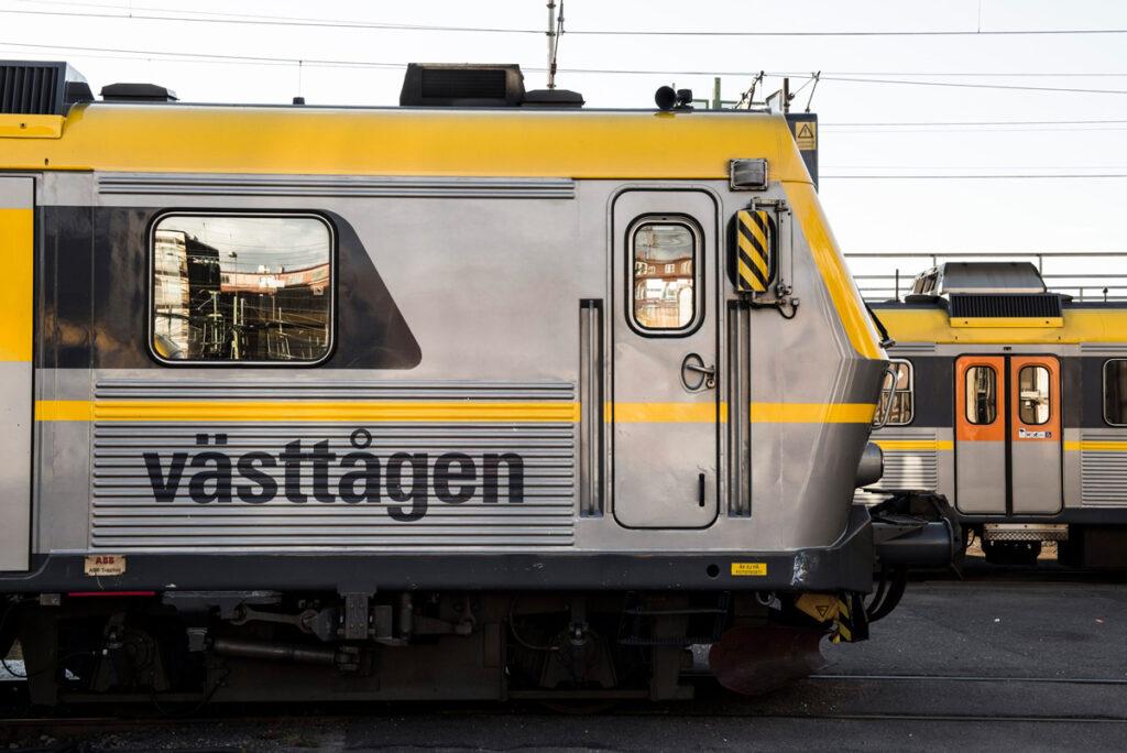 foliering tåg kollektivtrafiken fordonsprofil västtågen